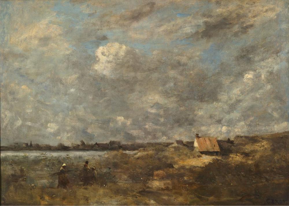 Camille Corot Fırtınalı Hava, Kanvas Tablo, Camille Corot