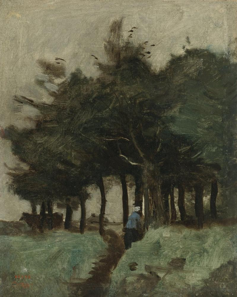Camille Corot Boulogne Sur Mer Hollow Path Dominated By Trees, Canvas, Camille Corot, kanvas tablo, canvas print sales