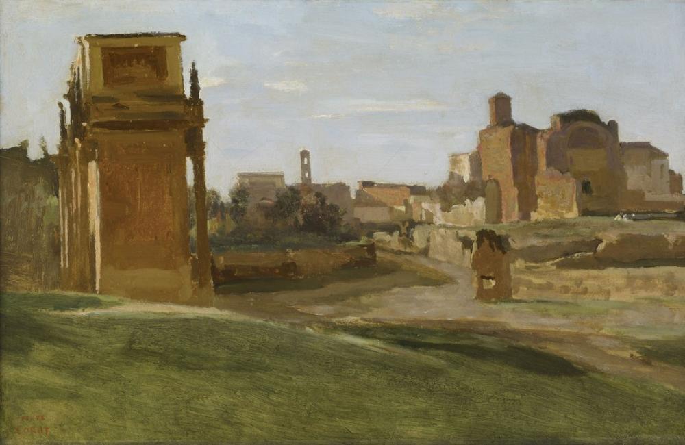 Camille Corot Konstantin Kemeri Ve Forum, Kanvas Tablo, Camille Corot