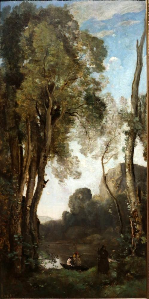 Camille Corot Ördek Göleti, Kanvas Tablo, Camille Corot