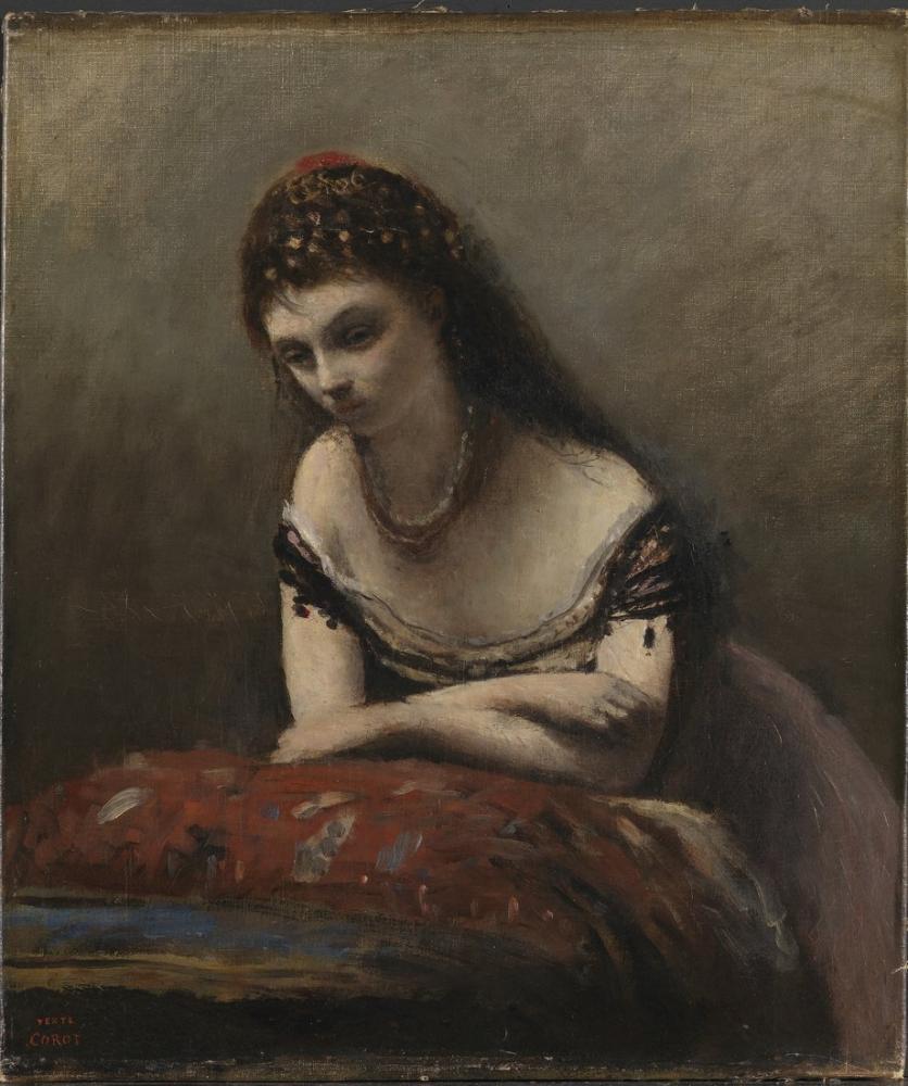 Camille Corot Çingene Kızı, Kanvas Tablo, Camille Corot