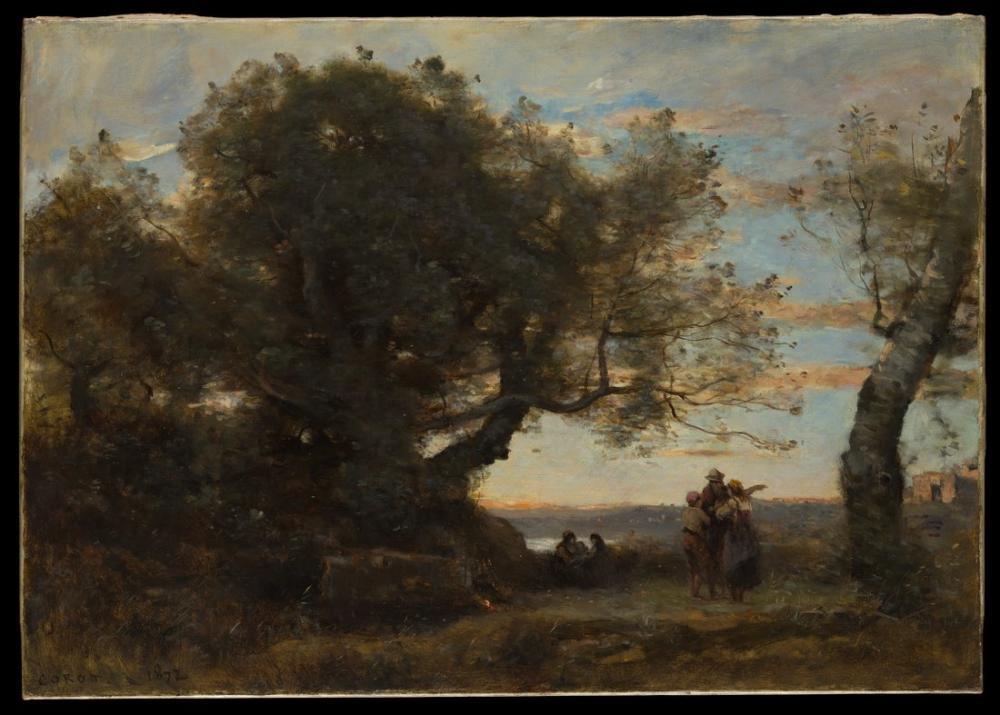 Camille Corot Çingeneler, Kanvas Tablo, Camille Corot