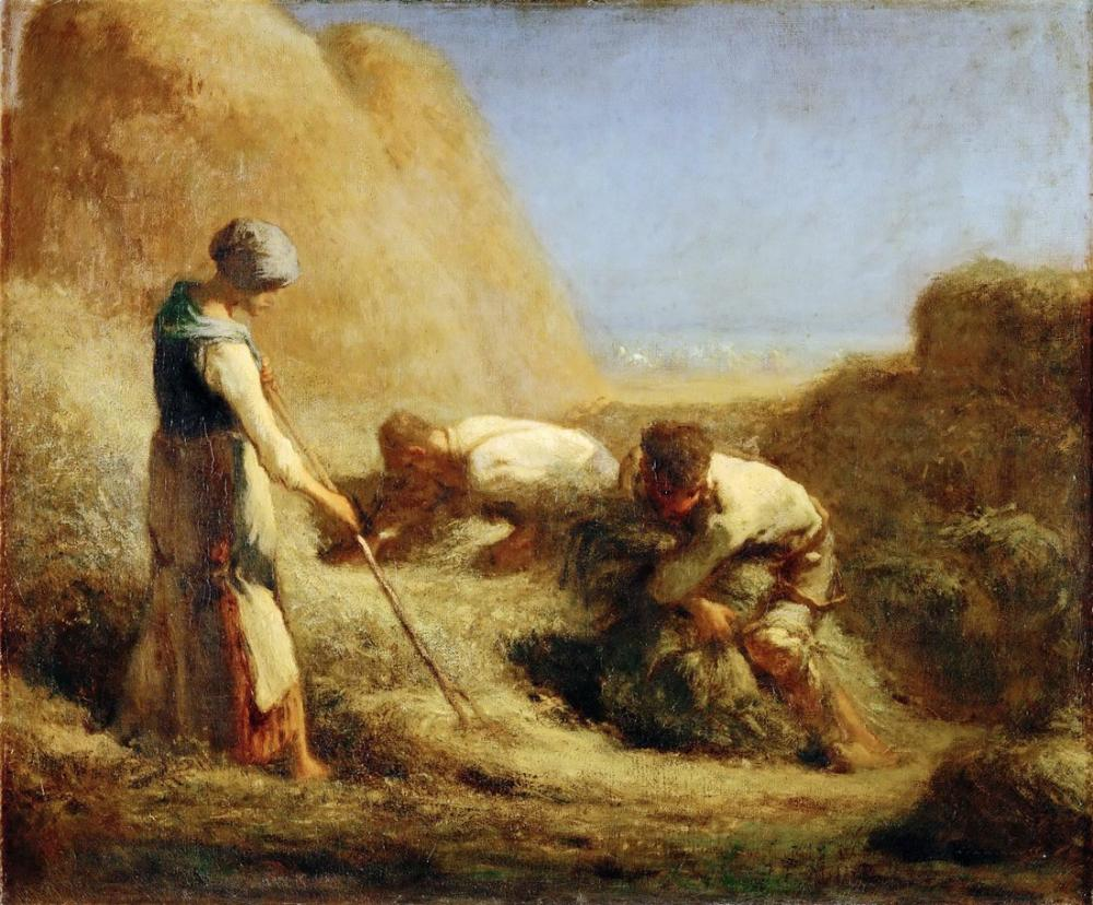 Camille Corot Haymakers, Kanvas Tablo, Camille Corot
