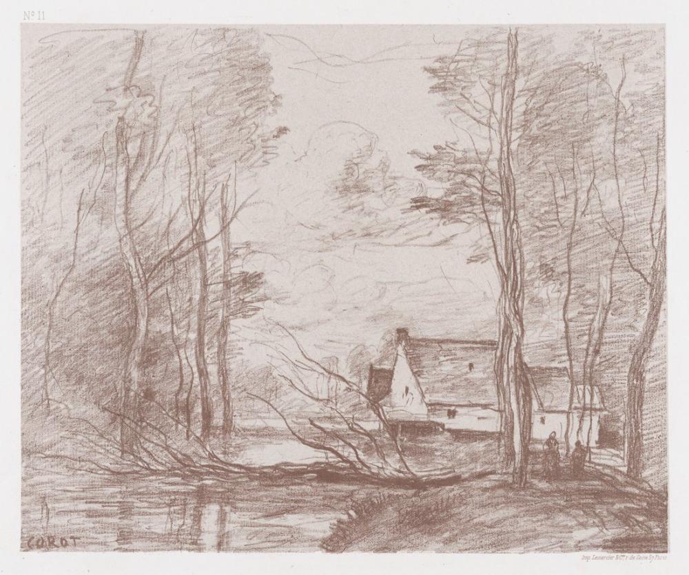 Camille Corot Cuincy Değirmen Douai Yakınında, Kanvas Tablo, Camille Corot