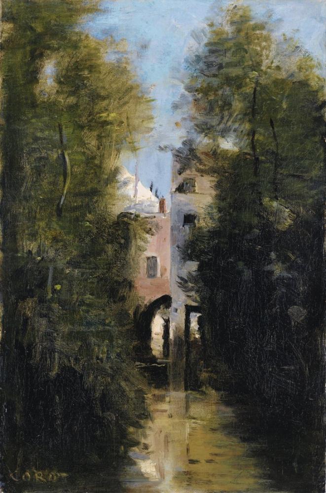Camille Corot Değirmen Beauvais, Kanvas Tablo, Camille Corot