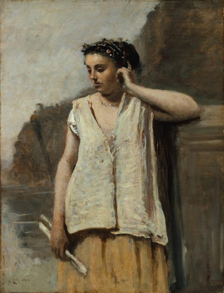 Camille Corot İlham Perisi, Kanvas Tablo, Camille Corot