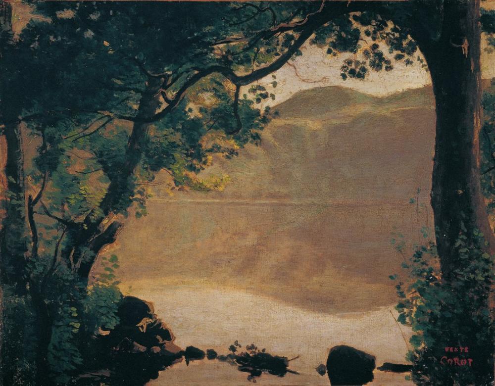 Camille Corot The Nemisee, Kanvas Tablo, Camille Corot