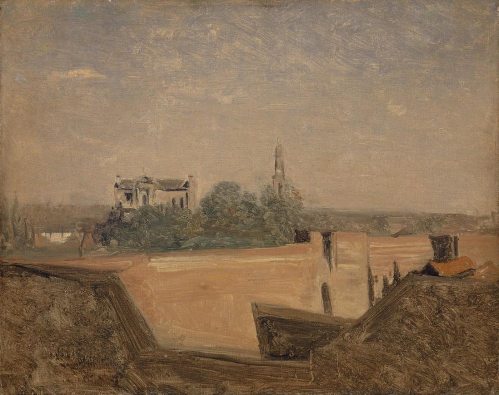 Camille Corot Arras Surları, Kanvas Tablo, Camille Corot