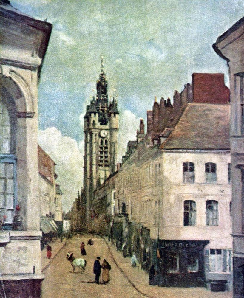Camille Corot Campanario Von Douai, Canvas, Camille Corot