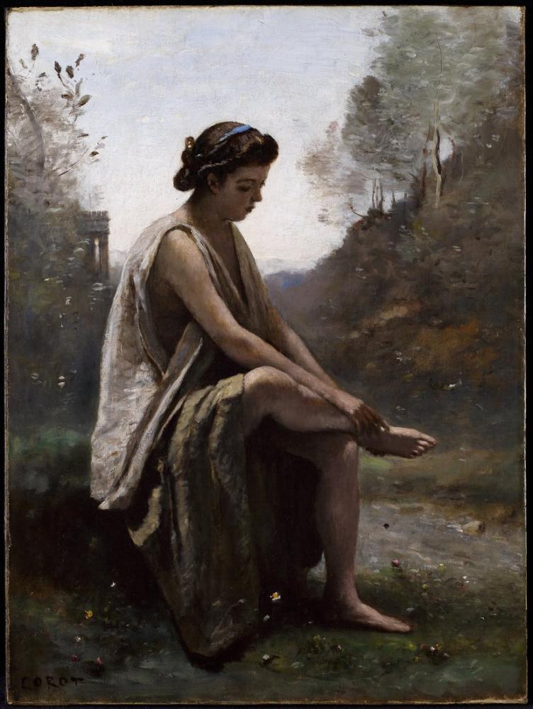 Camille Corot Yaralı Eurydice, Kanvas Tablo, Camille Corot