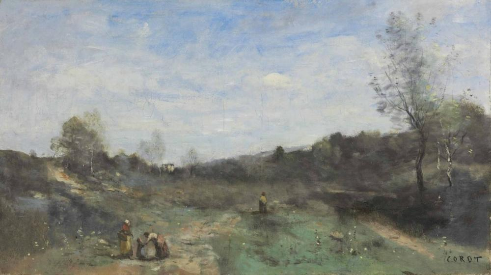 Camille Corot Vallons Ceared, Canvas, Camille Corot, kanvas tablo, canvas print sales