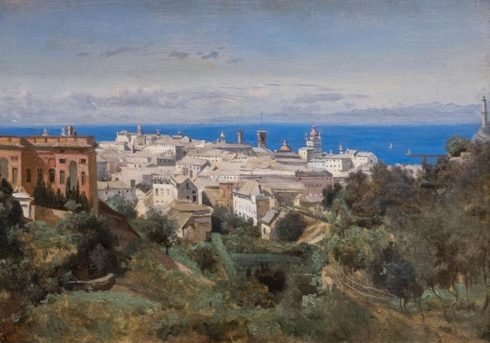 Camille Corot Cenova Manzarası, Kanvas Tablo, Camille Corot, kanvas tablo, canvas print sales