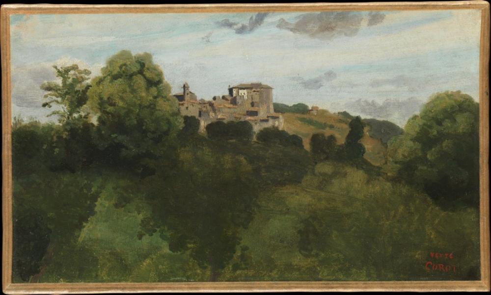 Camille Corot Genzano Manzarası, Kanvas Tablo, Camille Corot