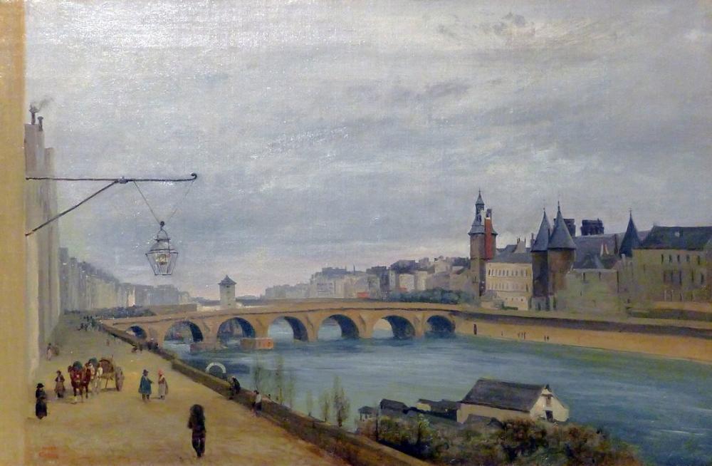 Camille Corot Carnavalet Pont Au Değişimi, Kanvas Tablo, Camille Corot, kanvas tablo, canvas print sales