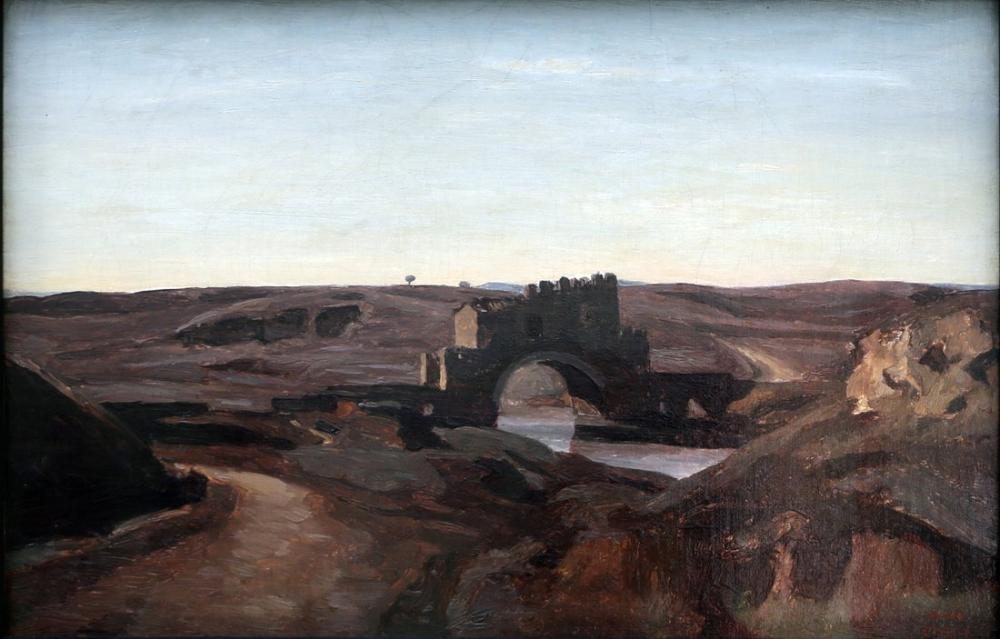 Camille Corot Roma Kırsalının Görünümü, Kanvas Tablo, Camille Corot