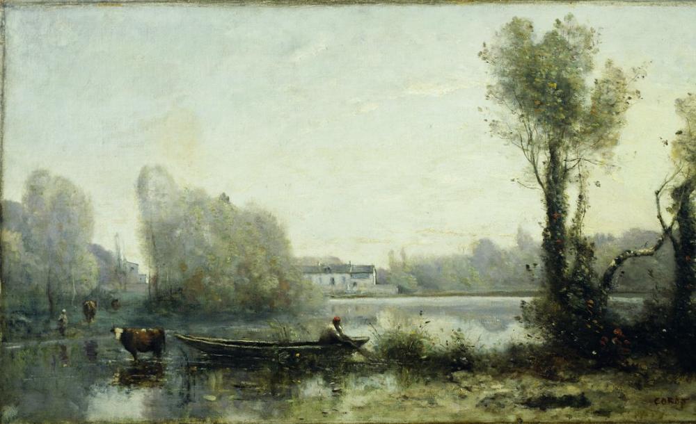 Camille Corot Ville Davray, Kanvas Tablo, Camille Corot