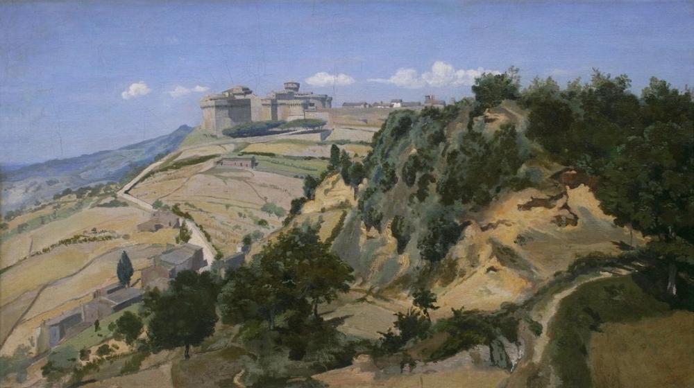 Camille Corot Volterra Kale, Kanvas Tablo, Camille Corot