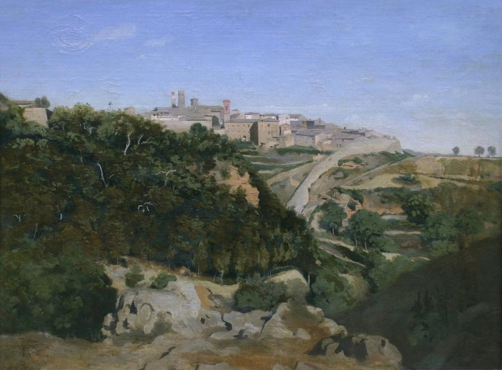 Camille Corot Volterra Belediye, Kanvas Tablo, Camille Corot