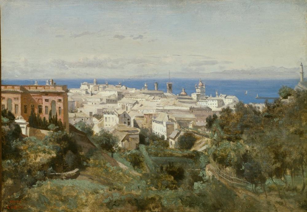Camille Corot Cenova Görünümü, Kanvas Tablo, Camille Corot
