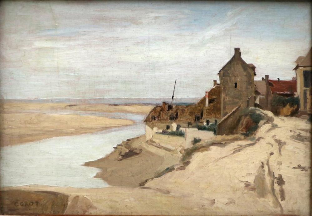 Camille Corot Trouville Normandiya Balıkçı Evinde, Kanvas Tablo, Camille Corot