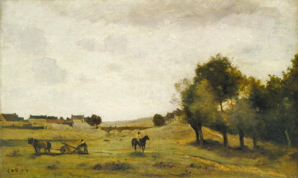 Camille Corot Epernon Yakınında, Kanvas Tablo, Camille Corot