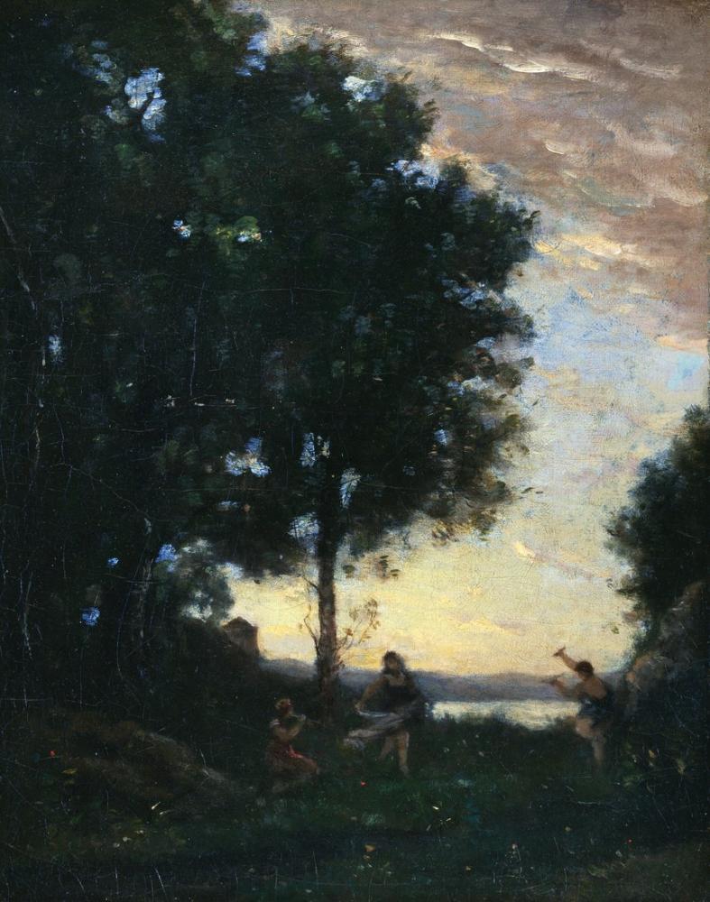 Camille Corot Yaban Hayatı Ve Dans Perileri, Kanvas Tablo, Camille Corot