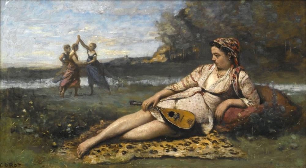 Camille Corot Spartalı Genç Kadınlar, Kanvas Tablo, Camille Corot