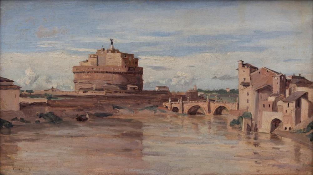 Camille Corot Castel Sant Angelo II, Kanvas Tablo, Camille Corot