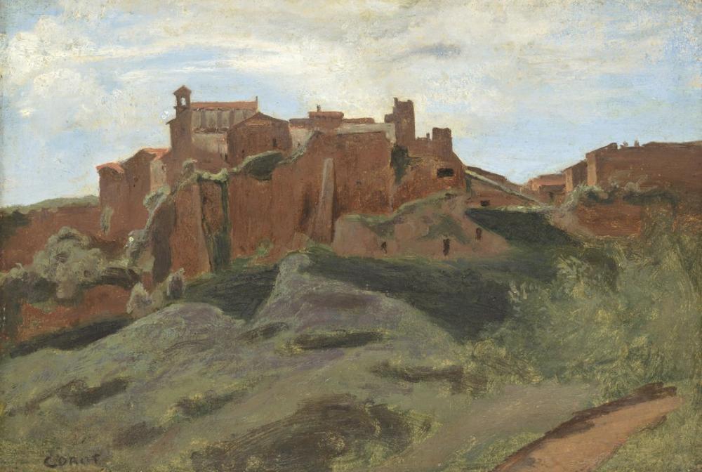 Camille Corot Castel Sant Elia, Kanvas Tablo, Camille Corot