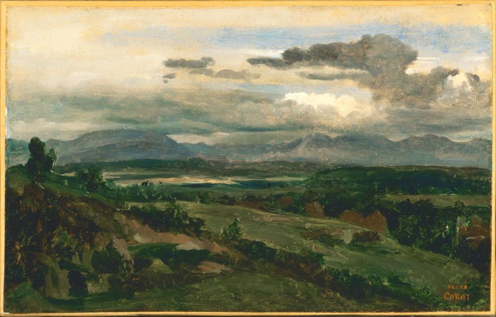 Camille Corot Civita Castellana II, Kanvas Tablo, Camille Corot