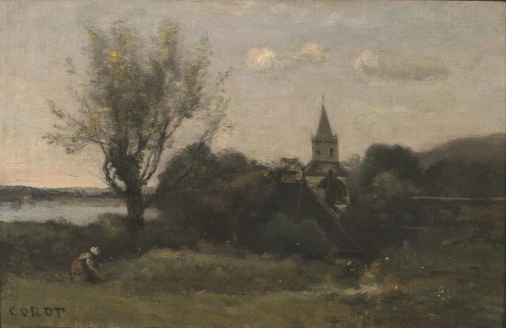 Camille Corot Auvers Yakınındaki Ennery, Kanvas Tablo, Camille Corot