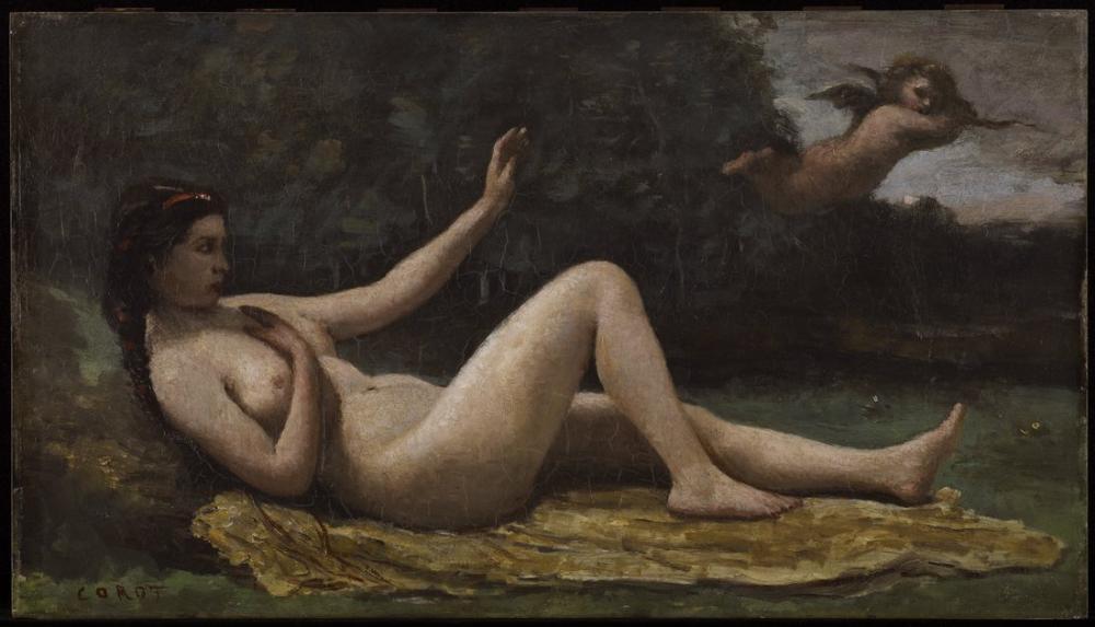 Camille Corot Sevginin Evrimi, Kanvas Tablo, Camille Corot, kanvas tablo, canvas print sales