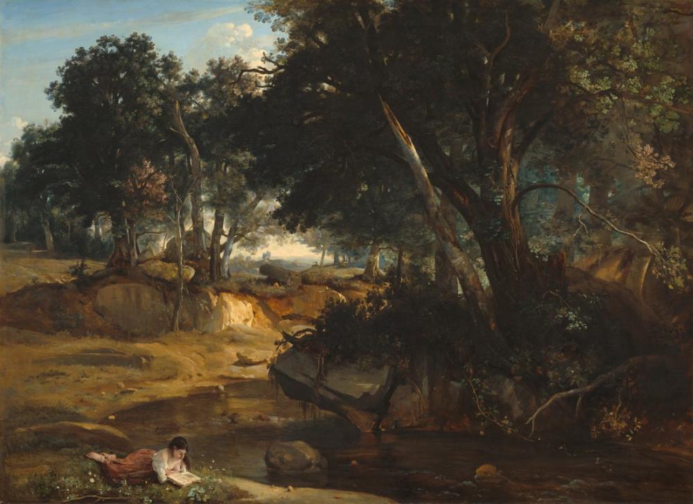 Camille Corot Fontainebleau Ormanı, Kanvas Tablo, Camille Corot