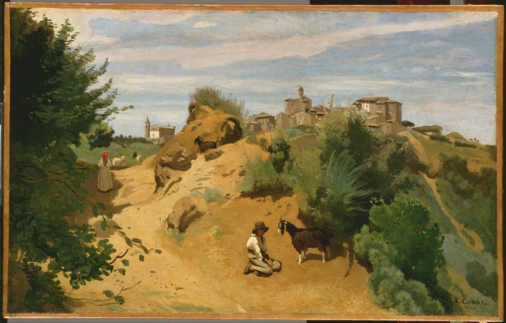 Camille Corot Genzano, Kanvas Tablo, Camille Corot