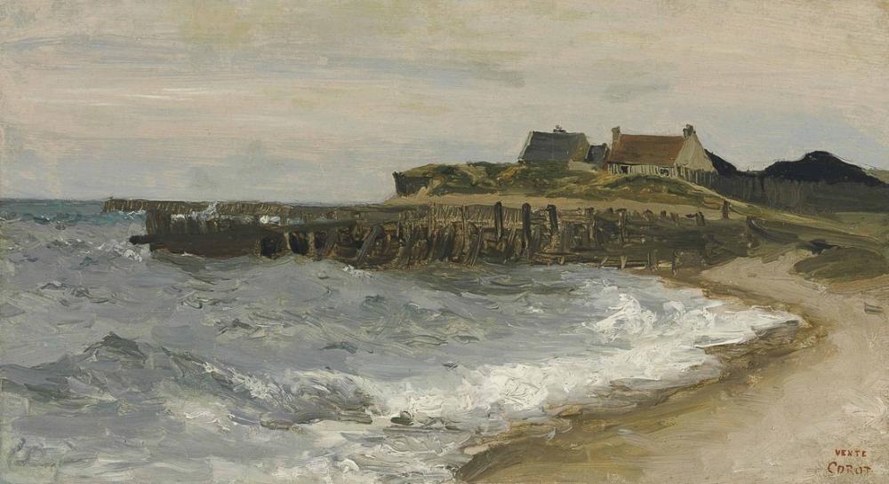 Camille Corot Grosse Mer A Sainte Adresse, Canvas, Camille Corot, kanvas tablo, canvas print sales