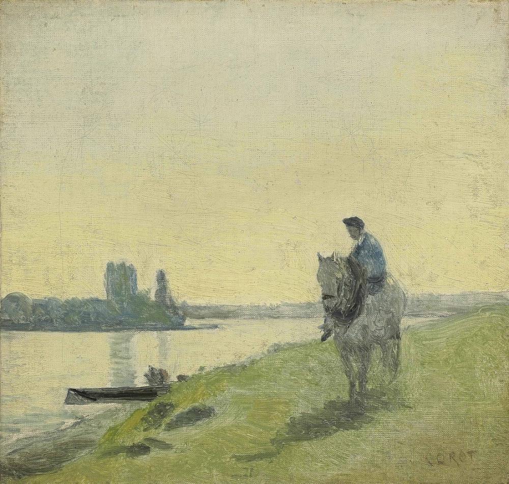 Camille Corot Kayıkçı Atının Üstünde, Kanvas Tablo, Camille Corot