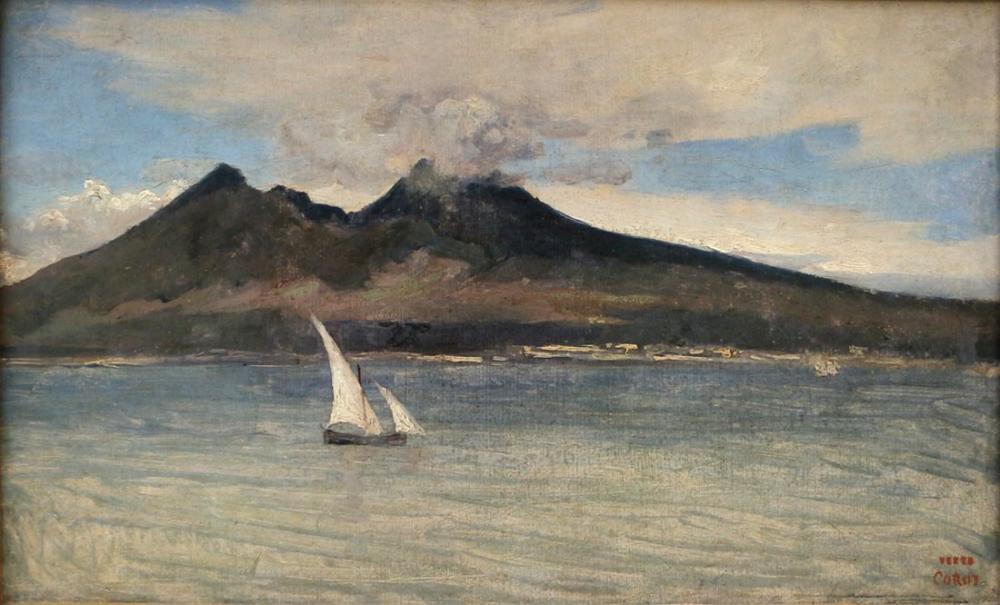 Camille Corot The Vesuvius, Canvas, Camille Corot, kanvas tablo, canvas print sales