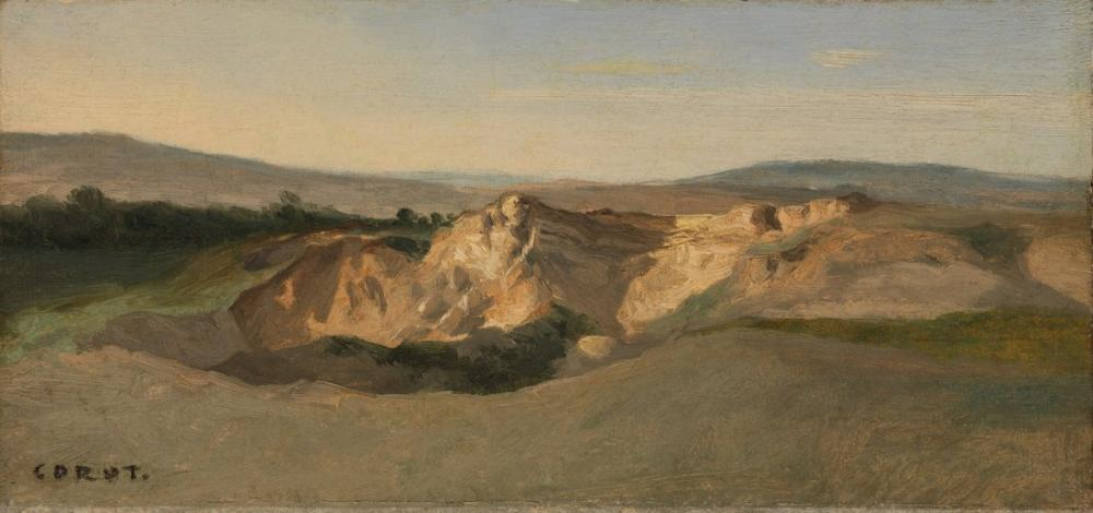 Camille Corot İtalyan Manzara III, Kanvas Tablo, Camille Corot