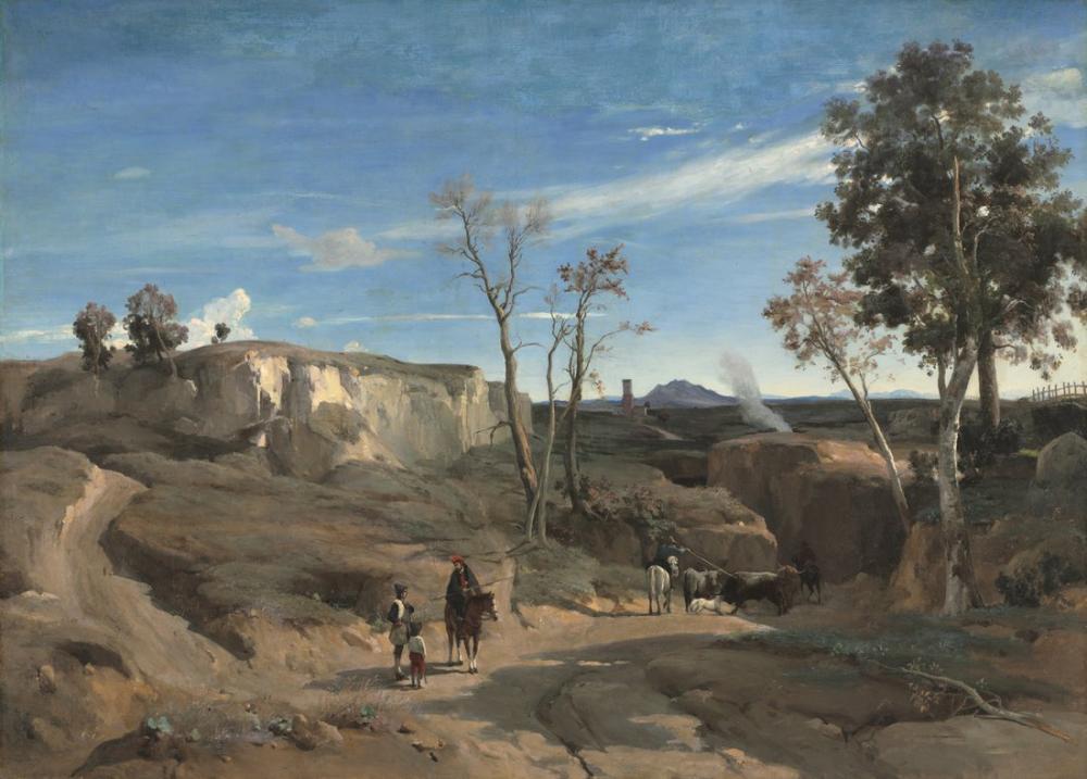 Camille Corot La Cervara Roma Kampanyası, Kanvas Tablo, Camille Corot