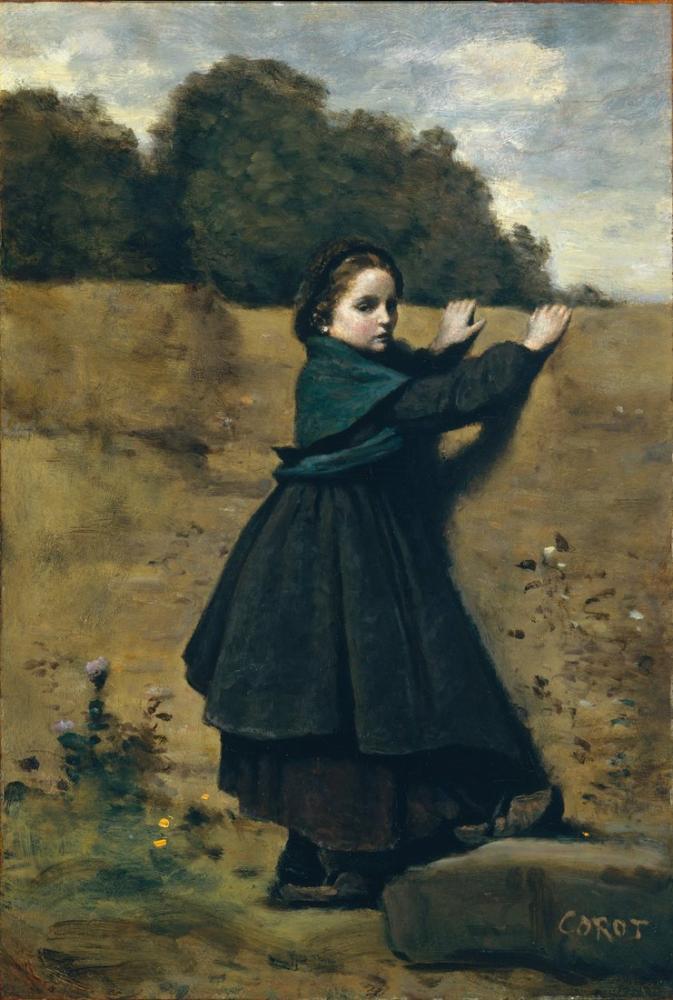 Camille Corot Meraklı, Kanvas Tablo, Camille Corot