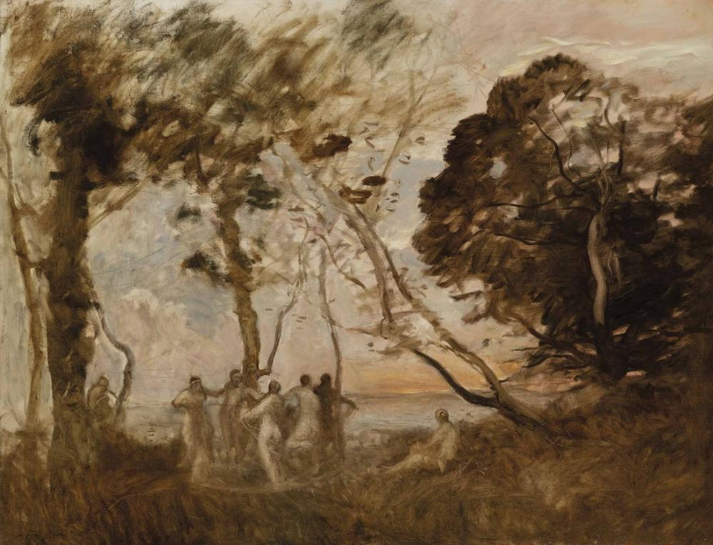 Camille Corot Perilerin Dansı, Kanvas Tablo, Camille Corot