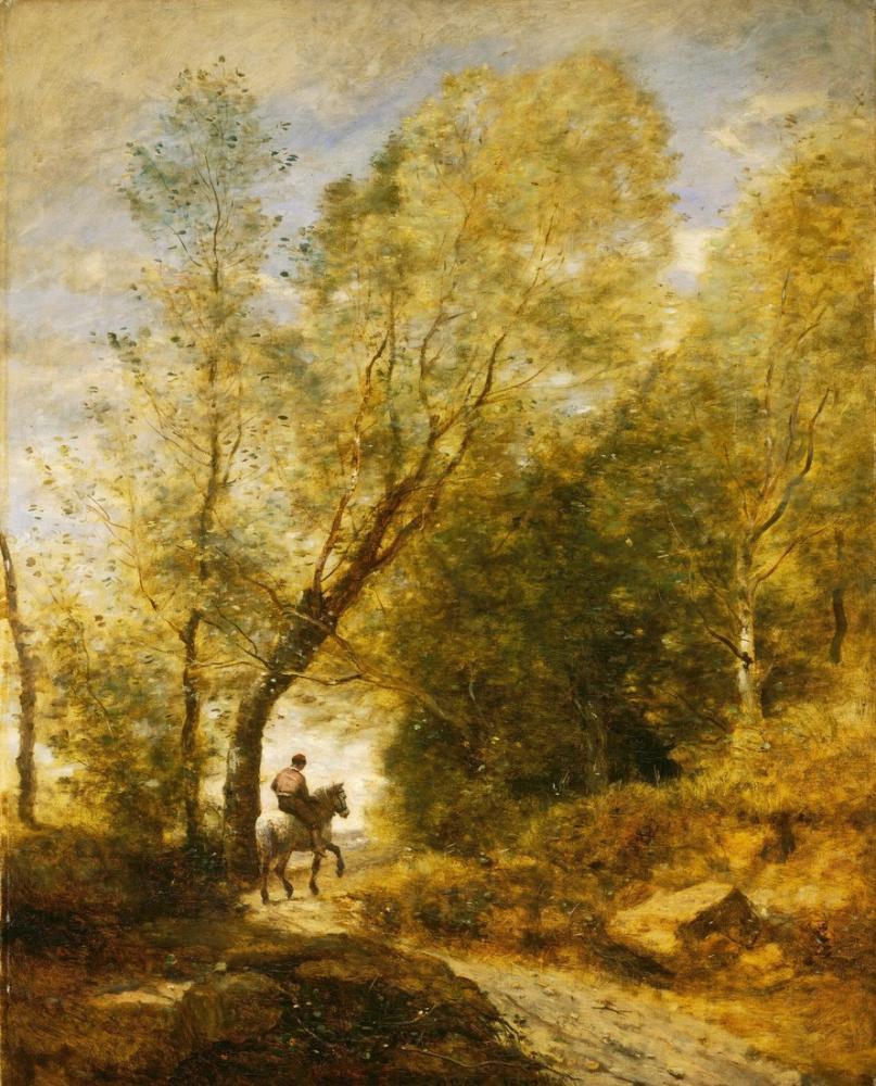 Camille Corot Coubron Ormanı, Kanvas Tablo, Camille Corot