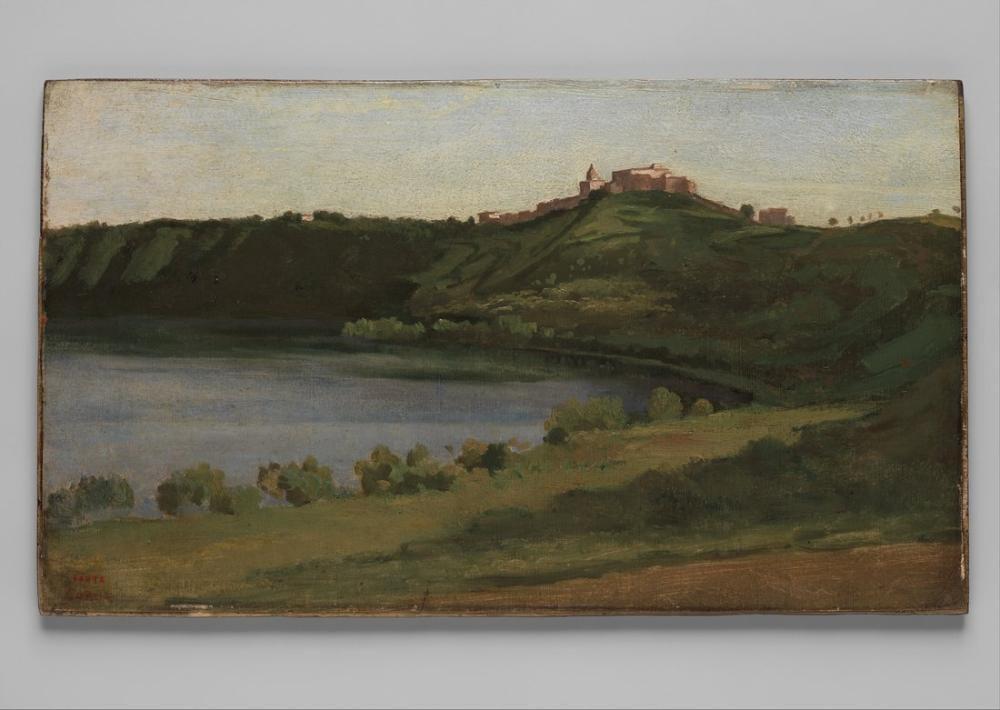 Camille Corot Albano Gölü Ve Castel Gandolfo, Kanvas Tablo, Camille Corot