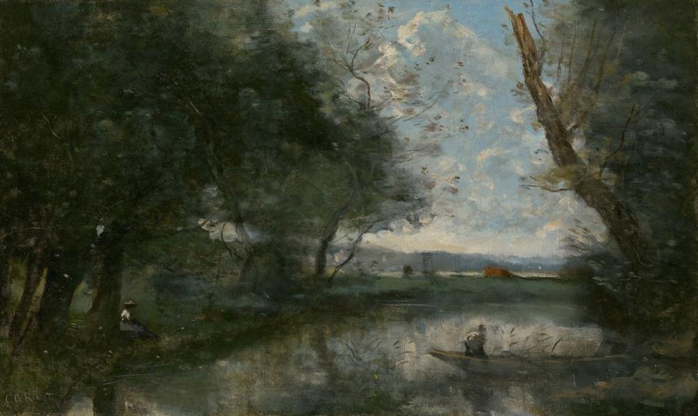 Camille Corot Landscape 1894, Canvas, Camille Corot, kanvas tablo, canvas print sales