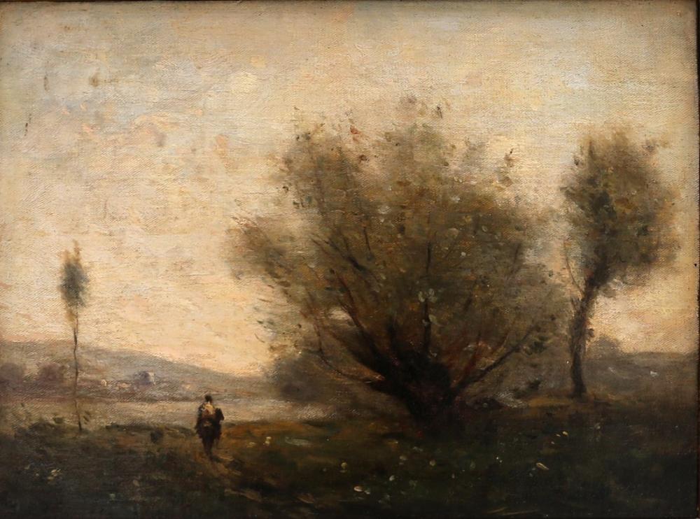 Camille Corot Ville Davray Yakınlarında Manzara, Kanvas Tablo, Camille Corot