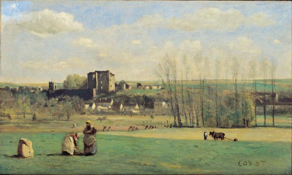 Camille Corot La Ferte Milon Manzarası, Kanvas Tablo, Camille Corot
