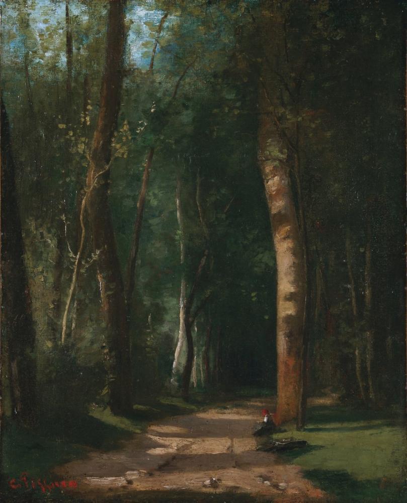 Camille Pissarro Allee Dans Une Foret Wur, Canvas, Camille Pissarro, kanvas tablo, canvas print sales