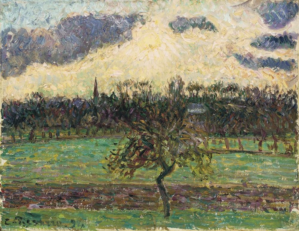 Camille Pissarro Elma Ağacı, Kanvas Tablo, Camille Pissarro, kanvas tablo, canvas print sales