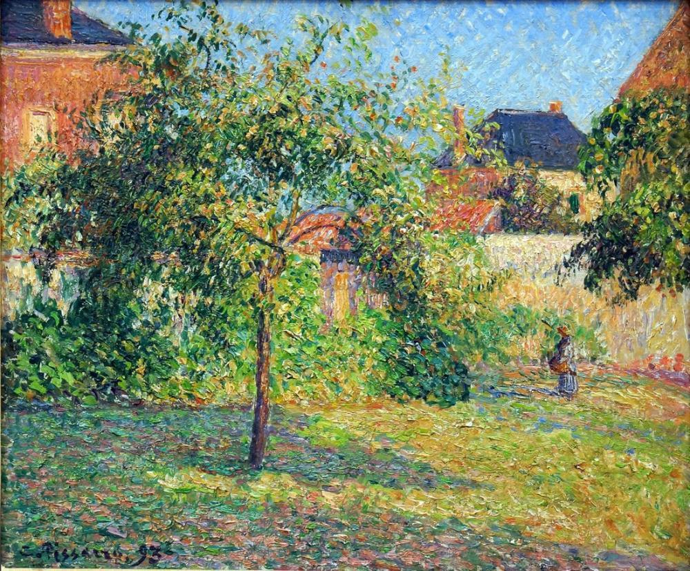 Camille Pissarro Elma Ağacı Çayır Eragny, Kanvas Tablo, Camille Pissarro