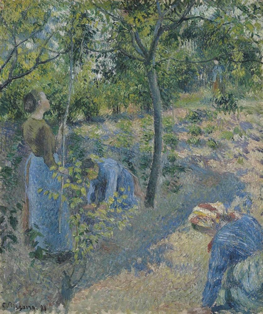 Camille Pissarro  La Cueillette Des Pommes, Canvas, Camille Pissarro